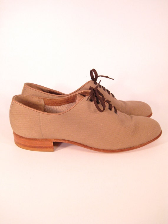 florsheim canvas oxfords size 9 5 jazz shoes made in
