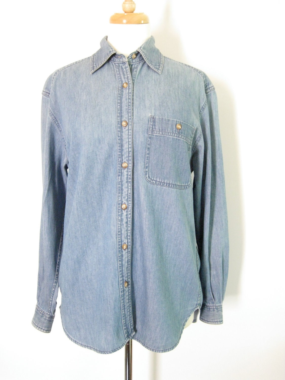 denim button up shirt size small 1990s women 39 s jean