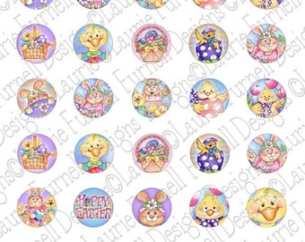 Easter Friends 1 Inch Circles
