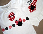 Brother and Sister Mickey and Minnie tees