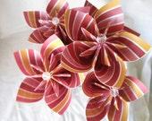 RESERVED FOR GRAN -- 3 stemmed paper flowers in pinwheel-like pattern