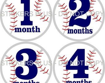 Monthly Baby Boy Milestone Stickers Baby Month Stickers Sports Baseball Baby Shower Gift Baby Stickers Monthly Baby Stickers Baby Months