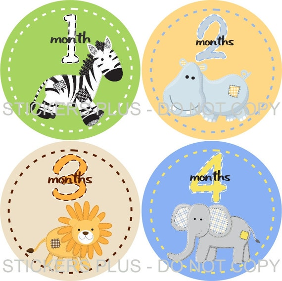 Baby Gifts For Either Gender : Free nb gift gender neutral baby month stickers by