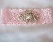 Beautiful Stretch Lace Bridal Garter Set, Gorgeous Pearl and Crystal Cluster on Vintage Inspired Lace.