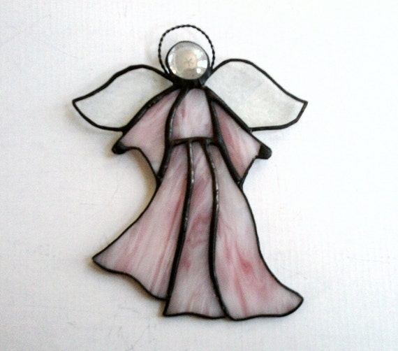 Stained Glass Angel Pink