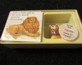 Vintage 1960s 1970s Americard American Greetings Lion Figurine Just a Little Gift to let you know you're grrrreat... in box