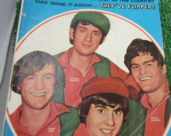 DELL The MONKees Magazine Comic Book Sept 1967 Davy Jones Raybert Prods TV Show Michael Nesmith, Micky Dolenz Peter Screen Gems Inc. TV Show