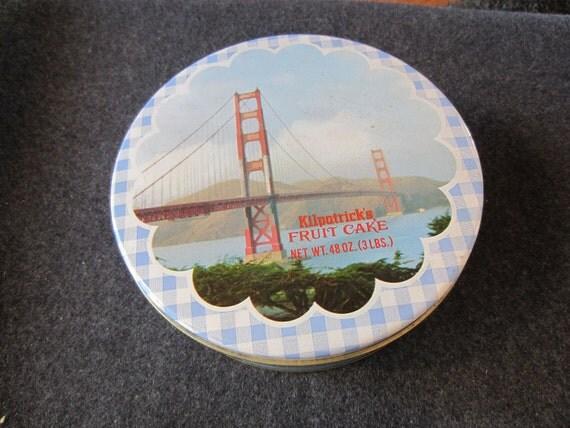 Vintage Kilpatrick S Bread Fruit Cake Advertising Tin