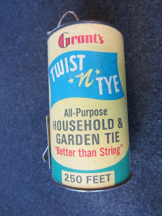 Grant's Twist n Tye all purpose household & garden Tie can vintage advertising Oakland San Francisco tin