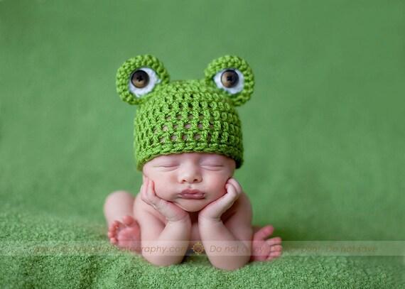 Mr. Frogger Newborn Beanie