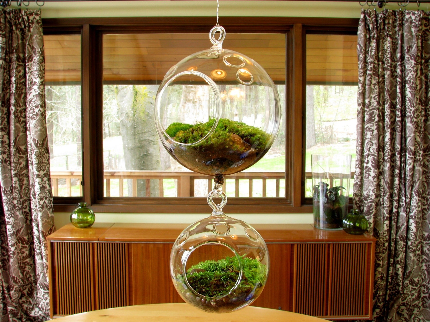 mama baby hanging glass terrariums by tinyterrains on etsy. Black Bedroom Furniture Sets. Home Design Ideas
