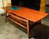 Wonderful Wébé coffee table from the 1960s, classic mid century design by Louis van Teeffelen