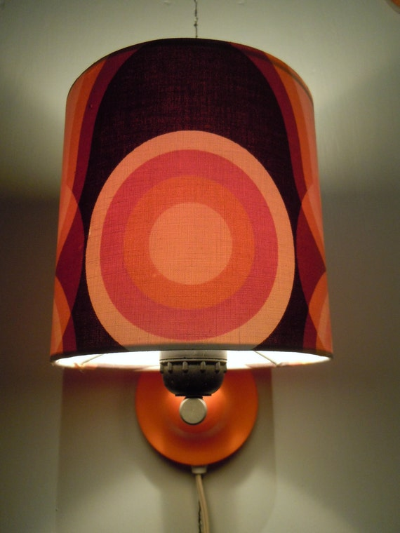 Lovely orange plastic wall lamp from the 70s