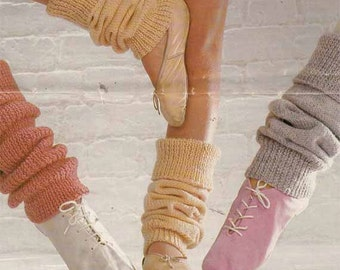 1970s/80s VINTAGE KNITTING PATTERN- Legwarmers, 2 Designs, Adult/Child sizes, Easy Knit, Instant Download Pdf from GrannyTakesATrip 0062