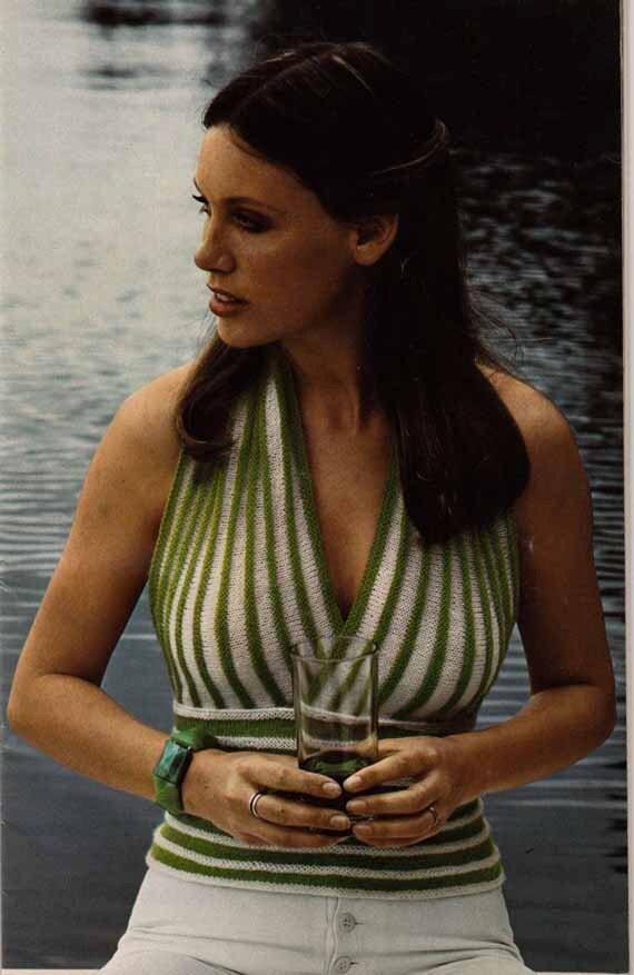 1970s Backless Summer Suntop VINTAGE KNITTING PATTERN, Boho/Hipster/Hippie, Beginners easy knit, Instant Pdf from GrannyTakesATrip 0013