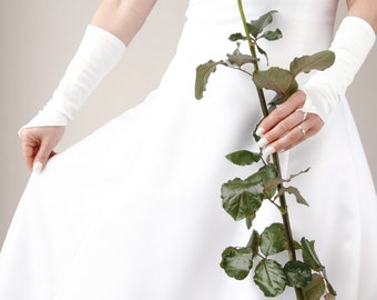 Bridal Elbow Fingerless Gloves