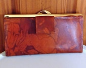 Brown Watermarked Vintage 60's Leather Purse