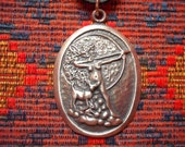 Diana the huntress pendant - goddess witchcraft pagan wiccan witch wicca moon hunting