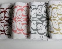 "SALE 6 ""MODERN PAISLEY"" - Tea Towels - Flour Sack Towels -Kitchen Towels  -  Modern Paisley  -Dish Towels"