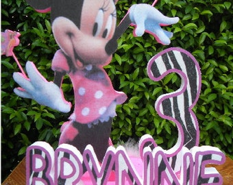 Minnie mouse birthday party cake topper -ZB