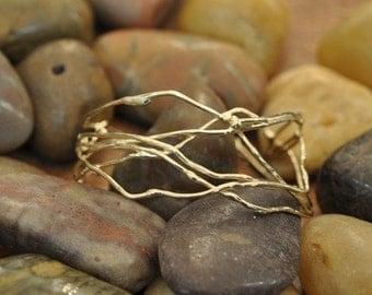 Gold (14K)  Birds-Nest Cuff Bracelet By New York Designer ATTITUDE by Jeanne