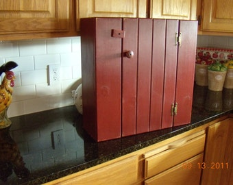 Barn red wall cabinet 20x20x6 inches