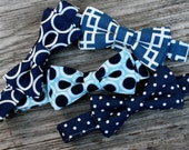 navy bowties, boys ties, baby bow tie, navy and white bowtie, toddler bow ties