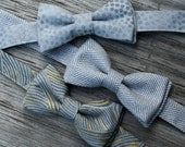 Bow Tie for Baby Boys -- Silver Bow Tie -- Bowtie for Baby