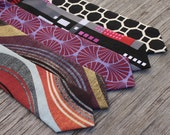Plum Tie for Boys  -- Rust and Plum Tie -- Black and White Tie -- City Scape Neck Tie -- Fall Color Tie -- Red and Black Tie