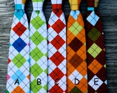 Argyle Necktie for Boys -- Rainbow Tie -- Ties for Baby Boys