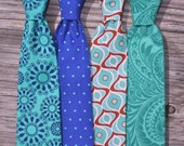 CUSTOM LISTING for KERRY Boys Velcro Ties in Assorted Teals