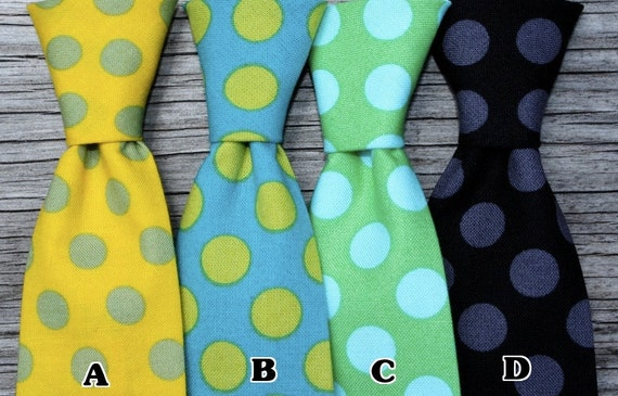 Boys Neck Ties in Polka Dots, pick you favorite