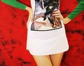 KING KONG 1977 Vintage Classic Film 70s Long Sleeve Mini Dress T Shirt Sleeveless Women Size XS S Fits