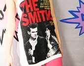 The Smiths Rock T-Shirt Complete Chord Songbook Indie T-Shirts White Singlet Vest Tank Top Women Size L
