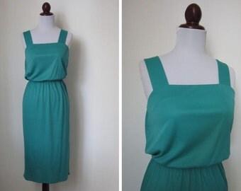 Vintage 70's Teal Dress