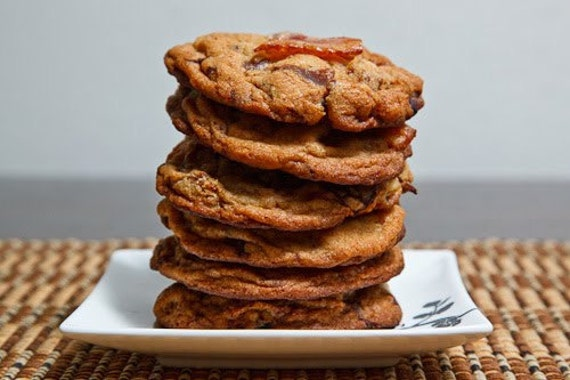 Delictable Jumbo Bacon Chocolate Chip Cookies