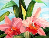 Pink Orchids - Giclee Print