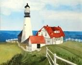 New England Lighthouse Print