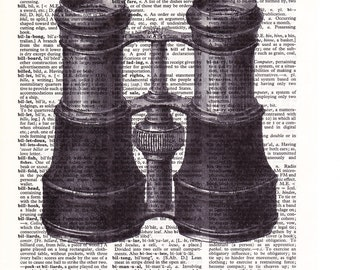 Steampunk Binoculars - Printed Book Page