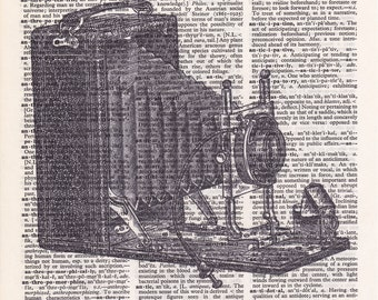 Steampunk Camera - Printed Book Page