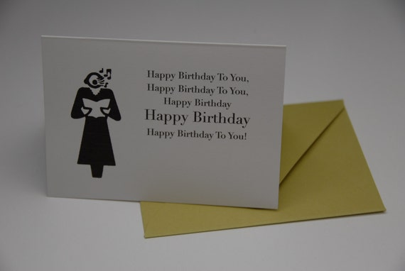 Birthday Card - Birthday Singer