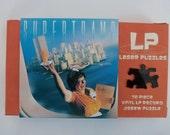 "Vintage LP Record Puzzle, Supertramp - ""Breakfast in America"" 70 pieces, Handcrafted, Repurposed"