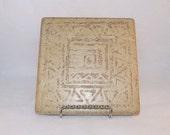 Brown Decorative Tile Trivet/Hot Plate