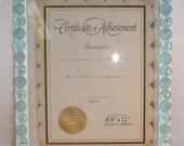 SALE: Mosaic Light Blue Gem Certificate Holder