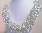 Pearl Wedding Jewelry Bridal Jewelry Necklace With Crystals