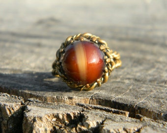 Vintage Tiger Eye Ring from West Germany