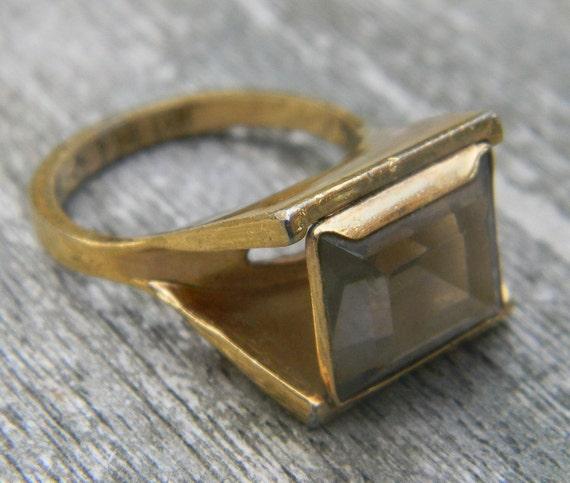 Vintage Gold Topaz Ring