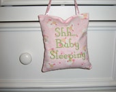 Baby Sleeping Door Sign