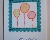 Birthday Card - Balloons