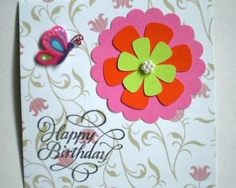 Birthday Card - Floral